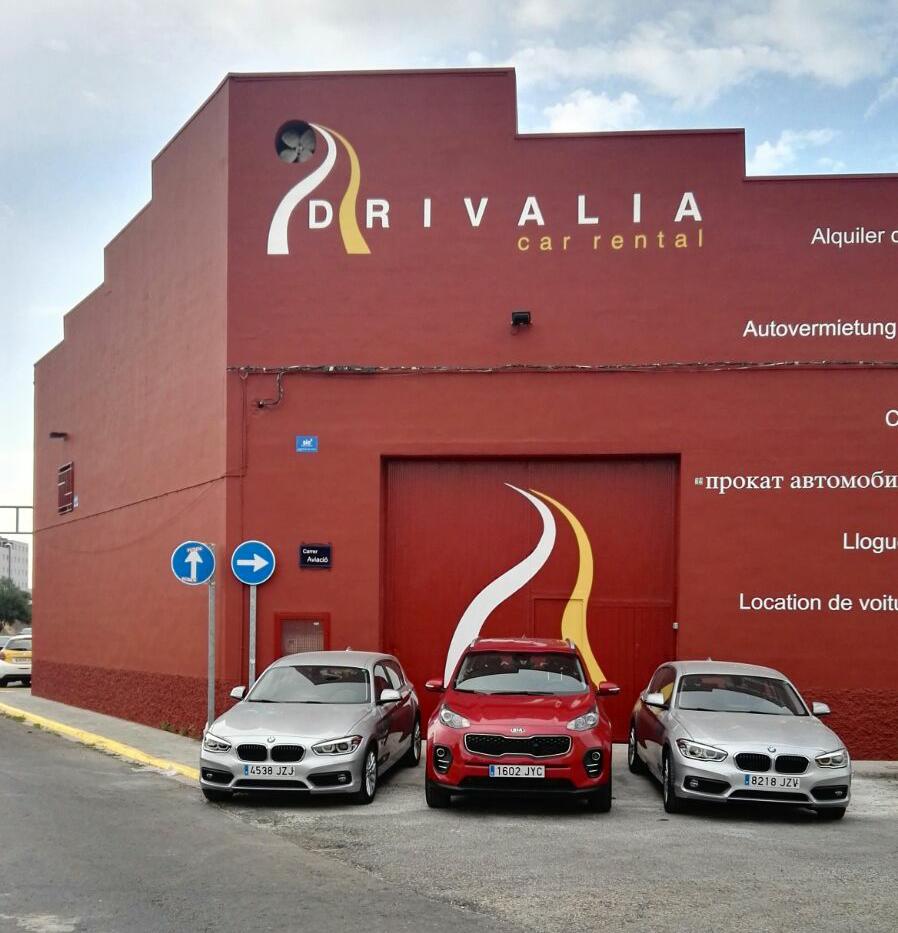 Drivalia all inclusive car hire at Valencia airport