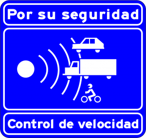 Speed Radar Warning  sign