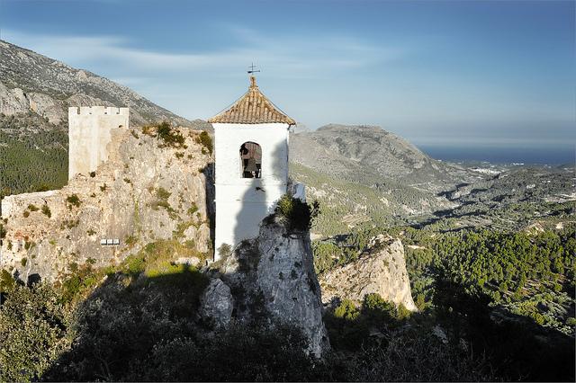 bell tower of the Peñon de la Alcalá Guadalest