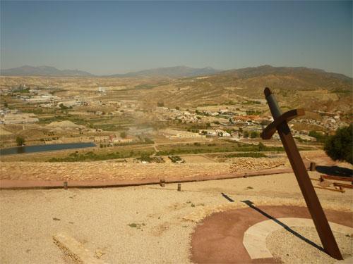 Sun dial at Lorca Castle