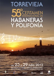 Poster Torrevieja's 58th International Contest of Habanera and Polyphony