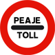 AP Toll sign
